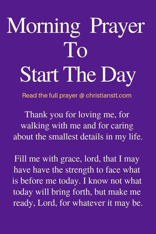 Uplifting Morning Prayers to Start the Day | Morning prayers, Prayer  quotes, Good morning prayer