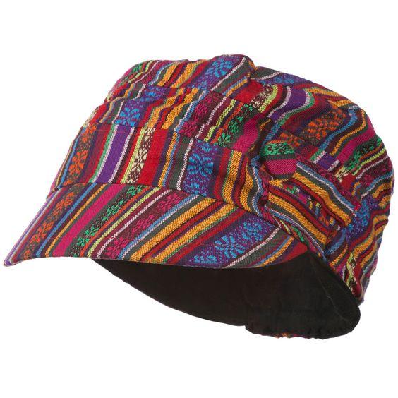 Women's Small Tribal Military Hat - Small Tribal Print