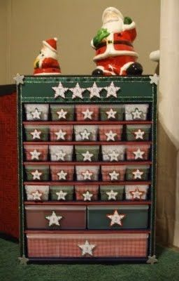 DIY advent calendar - made from a hardware cabinet from Canadian Tire
