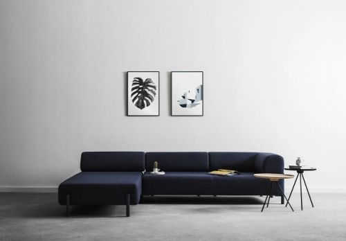 Blue Marine Sofa For the Home Pinterest Marines, Spaces and - l-küche mit kochinsel