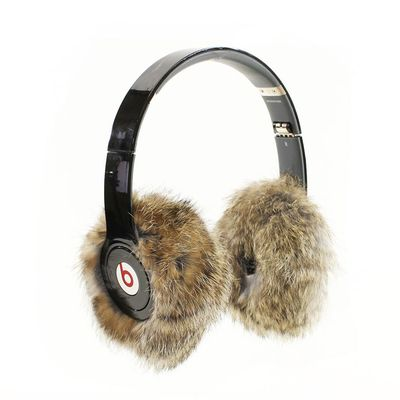 EarMuffies are fur covers that transform your favorite full-size headphones like Beats into awesome headphones earmuffs.  Earmuffies come in over 16+ colors and are offered in genuine rabbit fur, genuine sheepskin shearling, and premium faux fur.