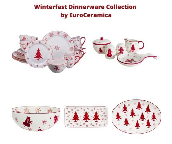Winterfest Dinnerware Collection by EuroCeramica