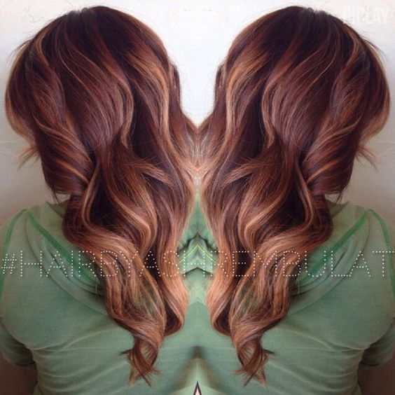 auburn hair with blonde balayage , Google Search