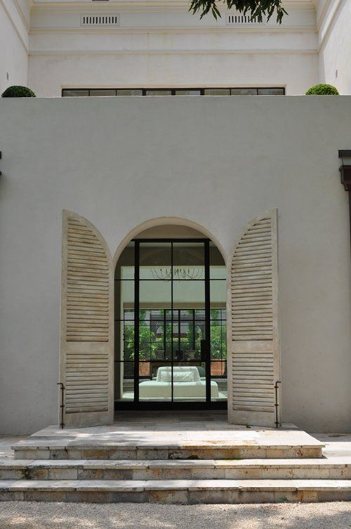 Iron Door Shutters Architecture Facades Exteriors Pinterest Museums