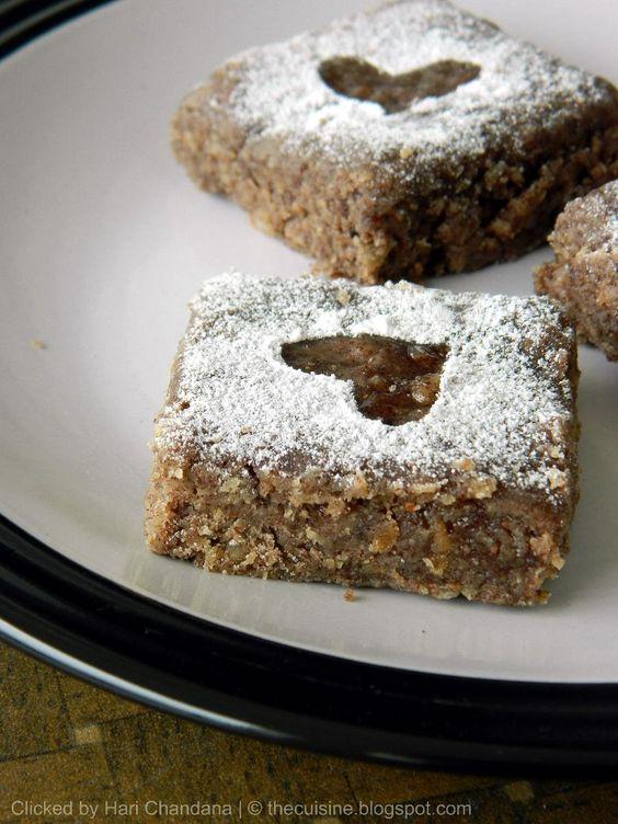 Coconut Ragi Burfi made with finger millet flour, fresh coconut and jaggery.  For Recipe: http://thecuisine.blogspot.com/2012/10/kobbari-ragi-burfi-recipe-fresh-coconut.html