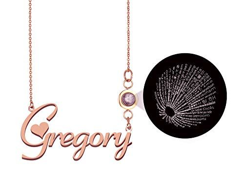 GR859C Personalized Mom Name Necklace Pendant Jewelry in Gold Silver