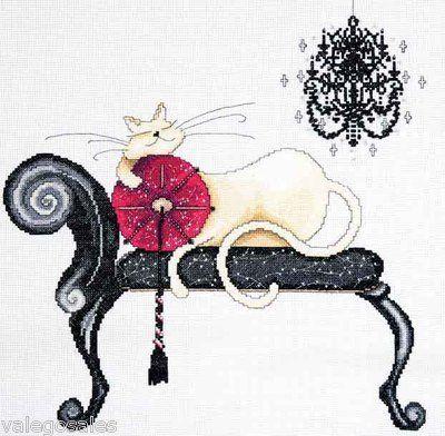 Design Works Counted #crossstitch Chandelier Cat ♥