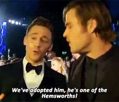 9 Times Chris Hemsworth & Tom Hiddleston Were Adorable, Offscreen Bros - I love their friendship. :)