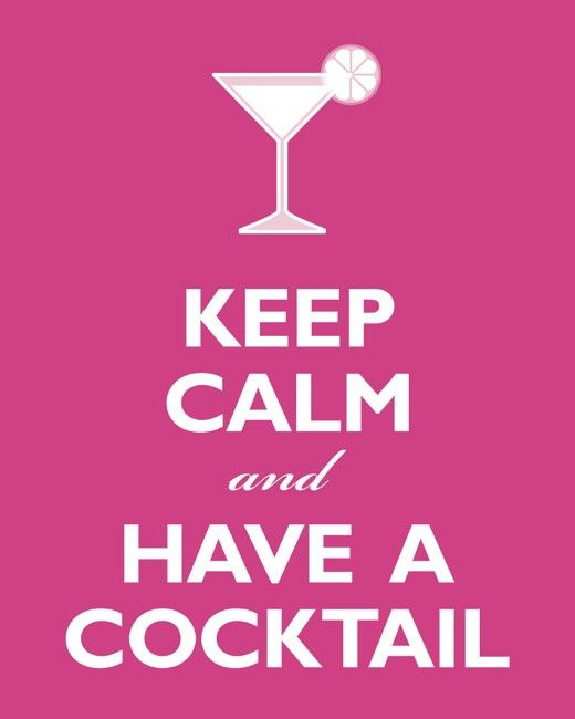 Items similar to Keep Calm And Have A Cocktail, 8 x 10 archival print (hot pink) on Etsy❤️