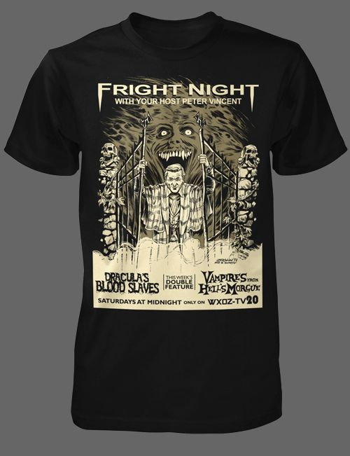 Fright Night [01037] - $21.95 : Horror T-Shirts : FRIGHT-RAGS, Horror Shirts