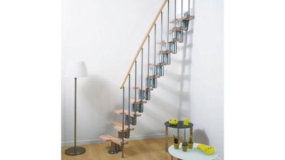 Des escaliers gain de place pour les petits espaces merlin lieux et d co - Escalier a pas decales leroy merlin ...