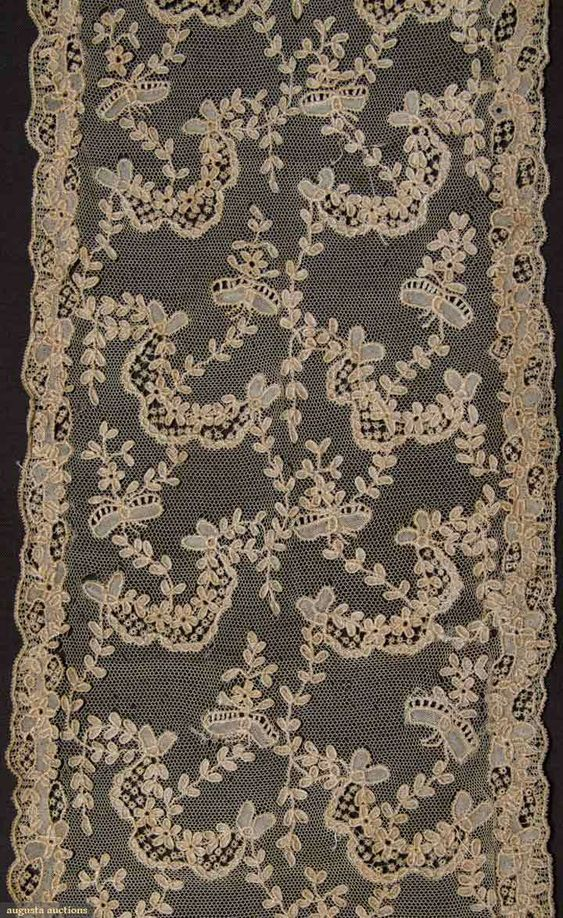 FINE NEEDLE LACE SAMPLES, 18TH C