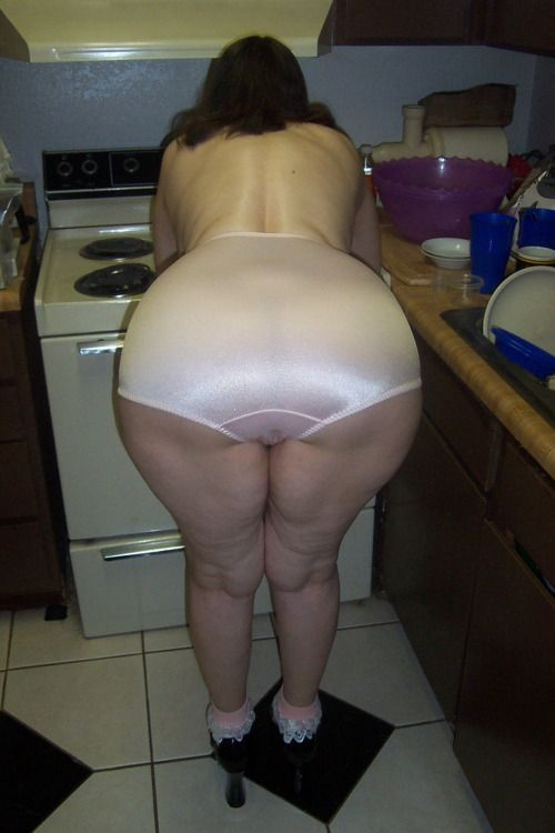 Pink white pussy from the back