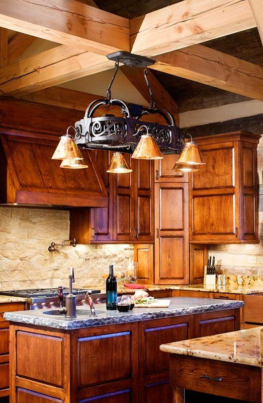Winterwoods Luxury Log And Timber Frame Homes Nellysford Va Kitchen Country Home