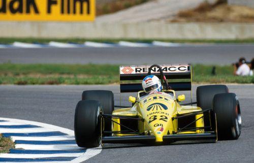 Nicola Larini     Coloni-Ford FC187     Jerez de la Frontera - Espanha     1987