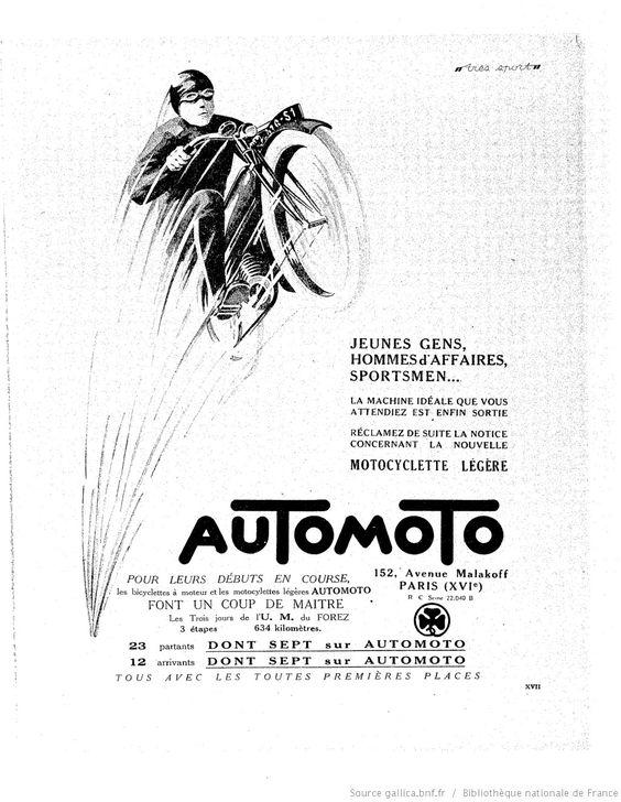 Très sport 1924-06-01 Gallica Publicités anciennes  cyclisme