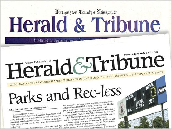 Newspaper Redesign - Kerry Scott Jenkins