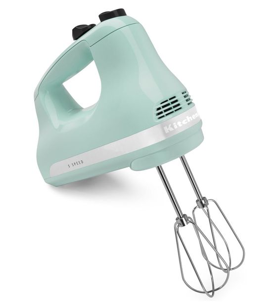 $31.99 Ice BLUE (mint) KitchenAid® 5-Speed Ultra Power™ Hand Mixer (KHM512OB Onyx Black) | *Ice color