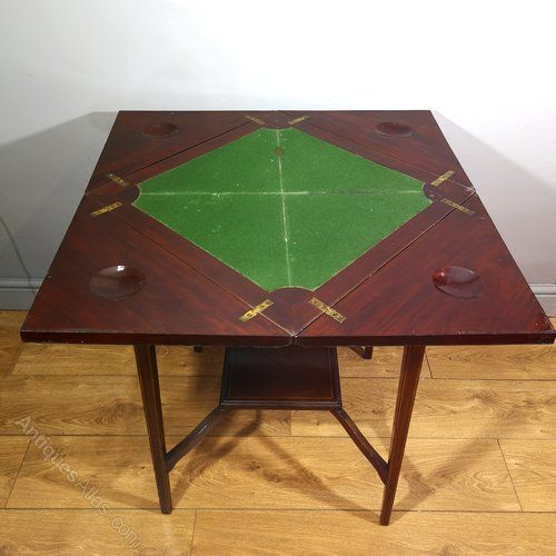 Edwardian Rosewood Marquetry Envelope Card Table Antiques Atlas Table Cards Table Marquetry