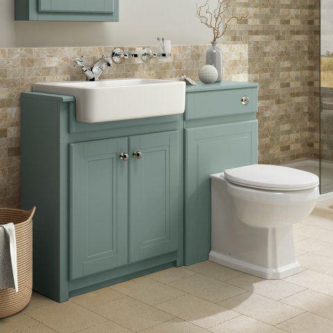 Cambridge Combined Vanity Unit Traditional Toilet Marine Mist In 2020 Bathroom Vanity Traditional Bathroom Bathroom Vanity Units