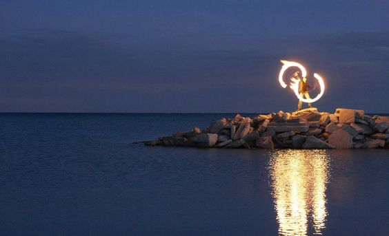 fire on the beach - Google Search