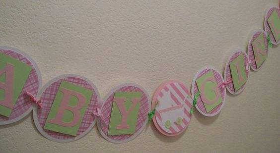 Baby Girl Banner  Baby Girl Shower Decorations  by KatlinLee123
