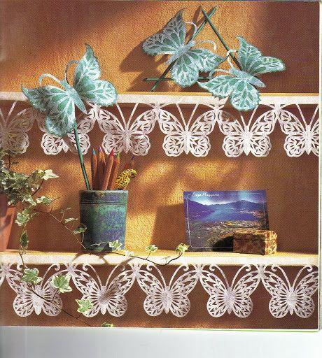 Изящные бумажные бабочки: