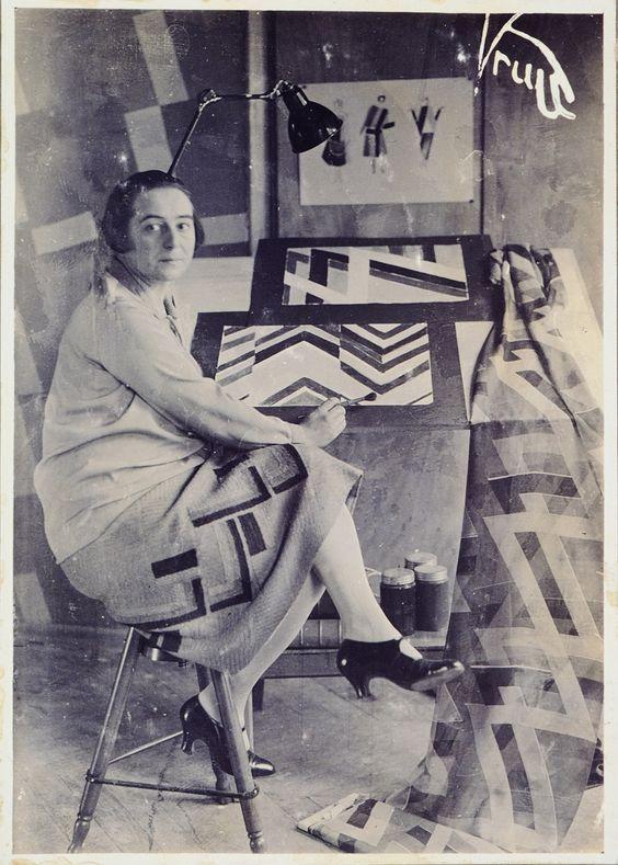 Germaine Krull , Sonia Delaunay in her studio at boulevard Malesherbes, Paris, France, 1925, Bibliothèque Nationale de France