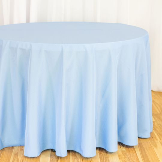 108 In Round Polyester Tablecloth Round Tablecloth Blue Tablecloth Luxury Wedding Decor