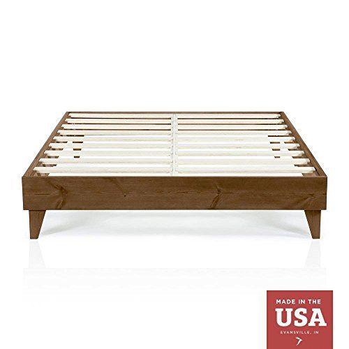 Cardinal Crest Wood Platform Bed Frame King Size Modern