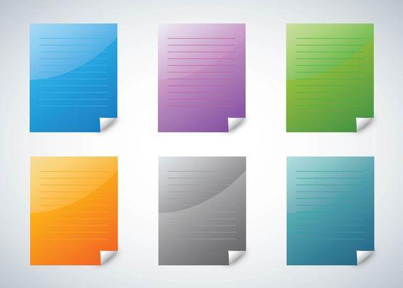 Colorful Paper Vectors free