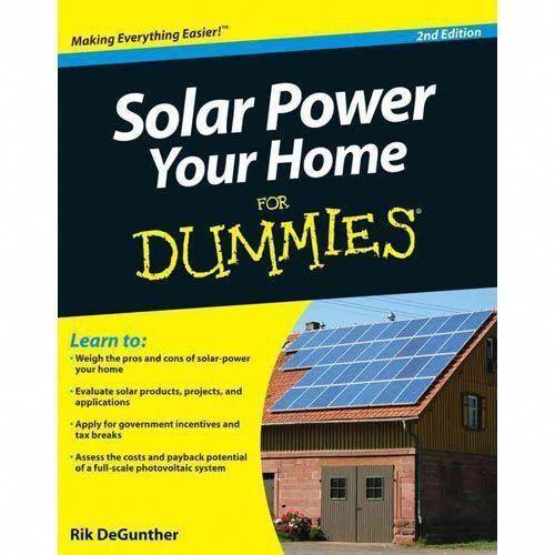 Solar Power Your Home For Dummies Degunther Rik Home Hobbies Garden Walmart Com Solarpanels Solaren In 2020 Solar Power Solar Panel System Photovoltaic System