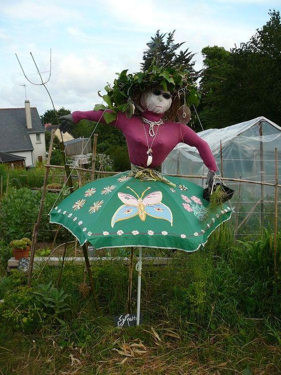 concours de l 39 pouvantail 2012 au potager id es jardin pinterest skirts and umbrellas. Black Bedroom Furniture Sets. Home Design Ideas