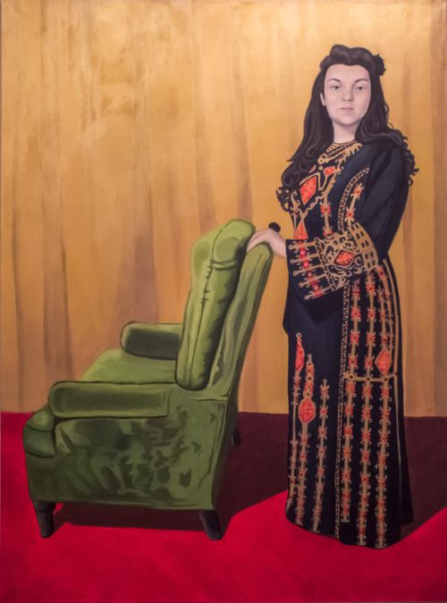 The Artist (self-portrait), acrylic, 2015 by Anna Parks