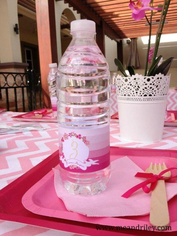 princess water bottle wrap - ombre princess party