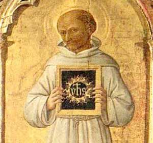 Inigo Hicks: St. Bernardine of Siena, St. Paul, and the Holy Name of Jesus;YHS