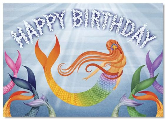 mermaids birthdays and happy birthday on pinterest
