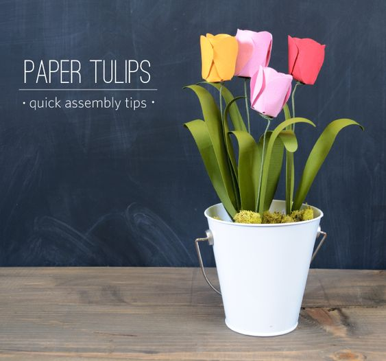 FREE Shape of the Week! Only a few days left to grab it: Create 3D Paper Tulips with your Silhouette