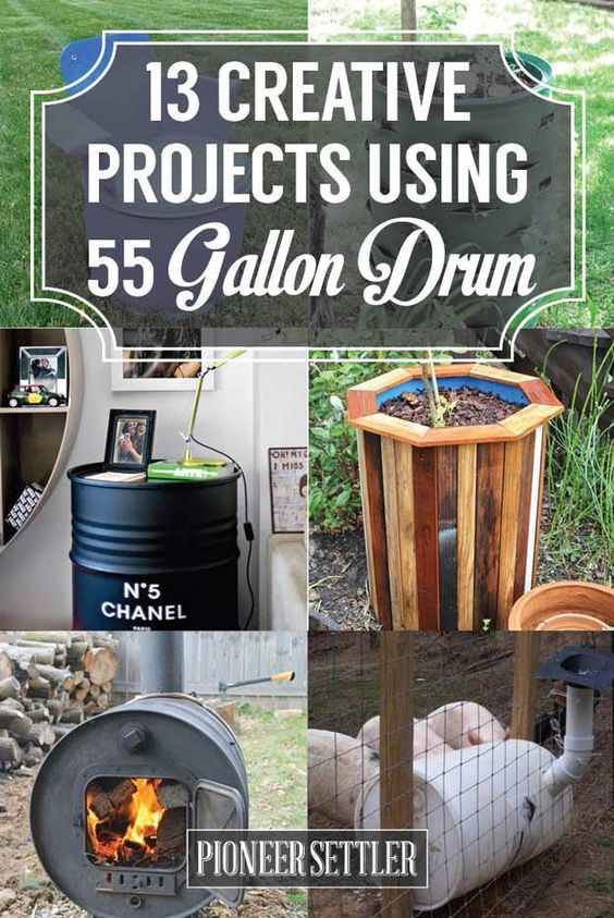Projects Using a 55 Gallon Drum On The Homestead   Awesome DIY Ideas You Must Try by Pioneer Settler at http://pioneersettler.com/55-gallon-drum/