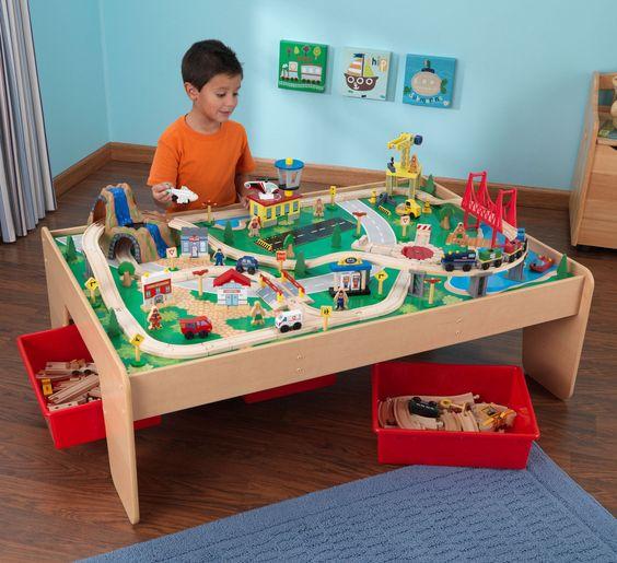 Kid Kraft Waterfall Mountain Train Set and Table - 17850