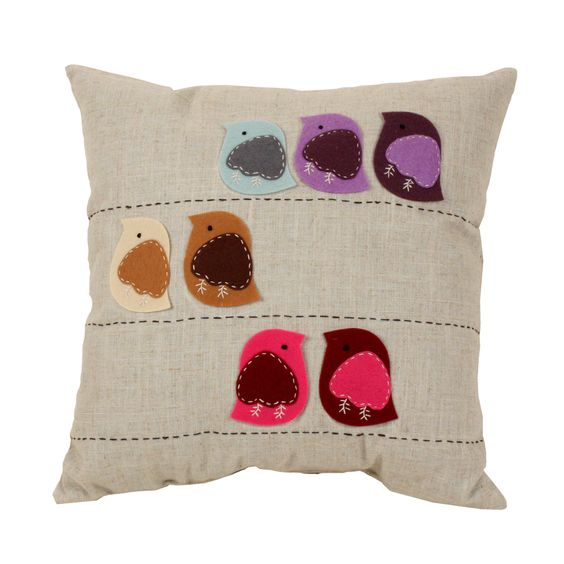 This felt bird pillow would be so easy to recreate.