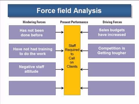 Using the Force Field Analysis Change Management Concepts - Management Analysis Sample