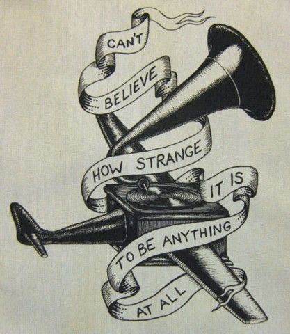 neutral milk hotel tattoo - Google Search  (and someday we will die and our ashes will fly from the airplane over the sea, and when we meet on a cloud i'll be laughing out loud, I'll be laughing with everyone I see, can'the belive how strange it is to be anything at all.)