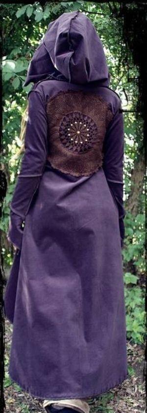 purple velvet *pixie* coat <3