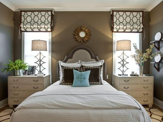 An upholstered headboard evokes traditional elegance with nailhead trim and a distressed finish. Dressed in a white linen duvet with satin stitching, the bedding is plush and inviting.  A remote control for the memory-foam mattress base adjusts to accommodate various ergonomic rest positions.  http://hg.tv/vb0r