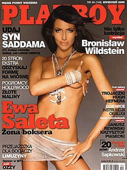 Playboy (Poland) April 2005  with Ewa Saleta on the cover of the magazine