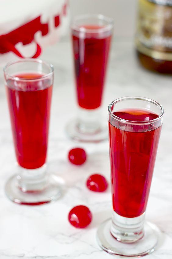 Cherry Vodka Cocktail - valentines day cocktails