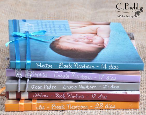Fotolivros de Newborn - C.Biehl Estúdio |Porto Alegre| - handmade crafting - feitos com carinho - livros editorados - Embalagens Personalizadas www.cbiehl.com.br