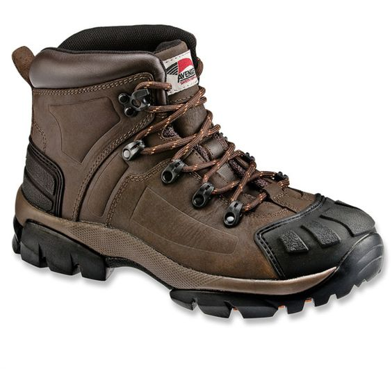 Avenger Safety Footwear Men's 7250 Full Grain Leather St Eh Workboot... (5.865 RUB) ❤ liked on Polyvore featuring men's fashion, men's shoes, men's boots, men's work boots, brown, shoes, mens steel toe boots, mens brown work boots, mens brown boots and mens steel toe work boots
