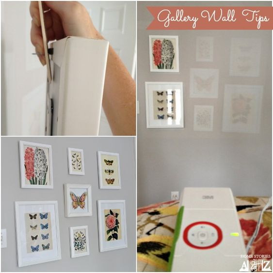 Tips on how to easily design a gallery wall and hang your pictures quickly.